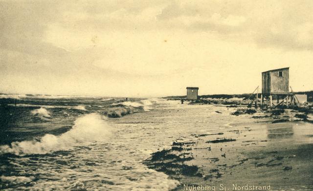 badehuse ved Nordstrand ved Nykøbing