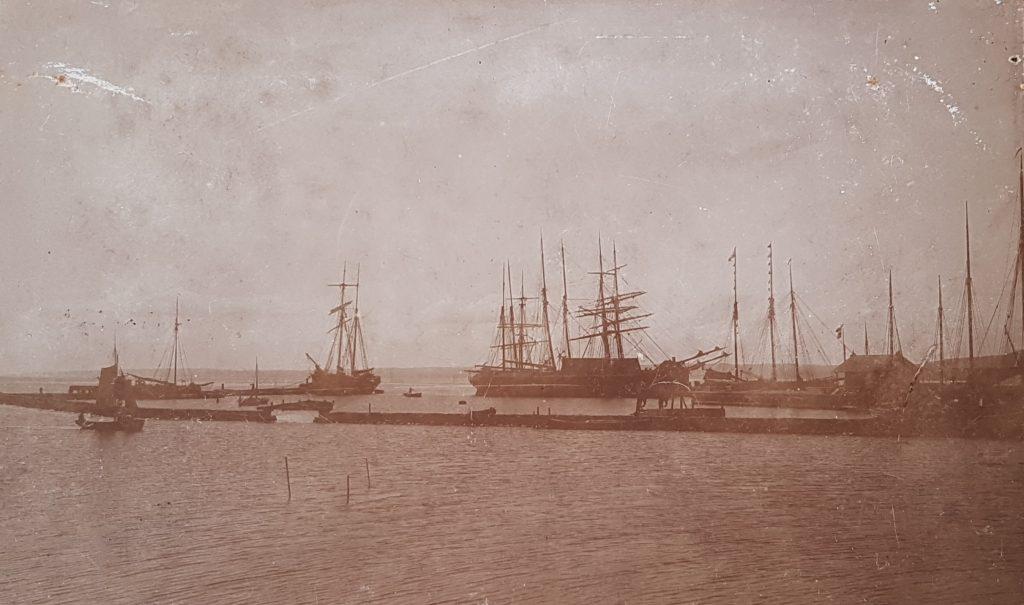 Skibe i havnen i Nykøbing Sj - Hilsen fra Odsherred